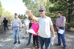 Reviewing charted territory: Real estate vice president holds tour of future Dorsey Marketplace