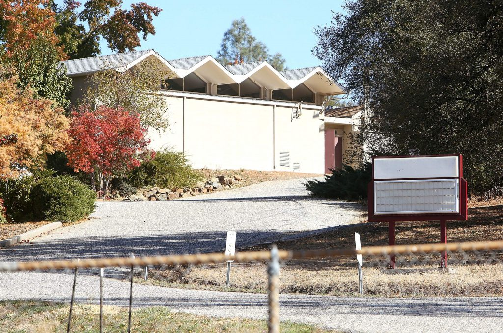 The school's marquee was already blank at Sierra Montessori Academy prior to the final day of school Oct. 31.