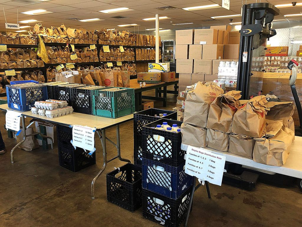 While Interfaith Food Ministry continues to serve those who come to their Henderson Street address for pick up and fills the new pantries set up with partner organizations, the need for donations is significantly increased.